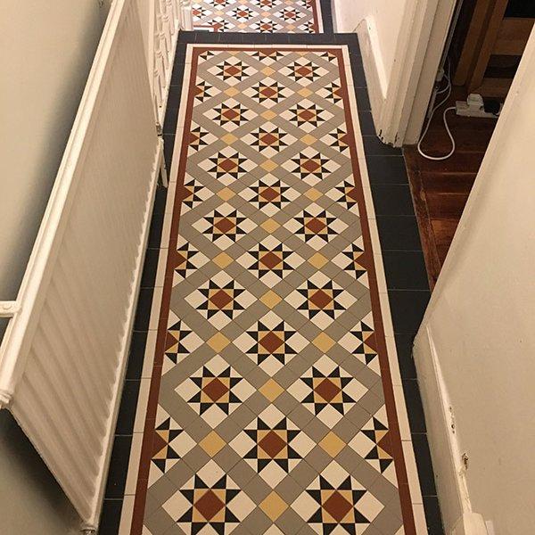 hallway victorian tiles Wandsworth