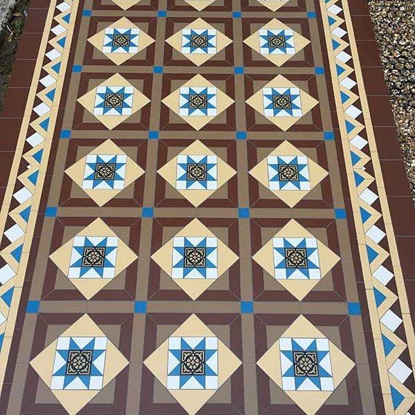 Victorian mosaic tiles