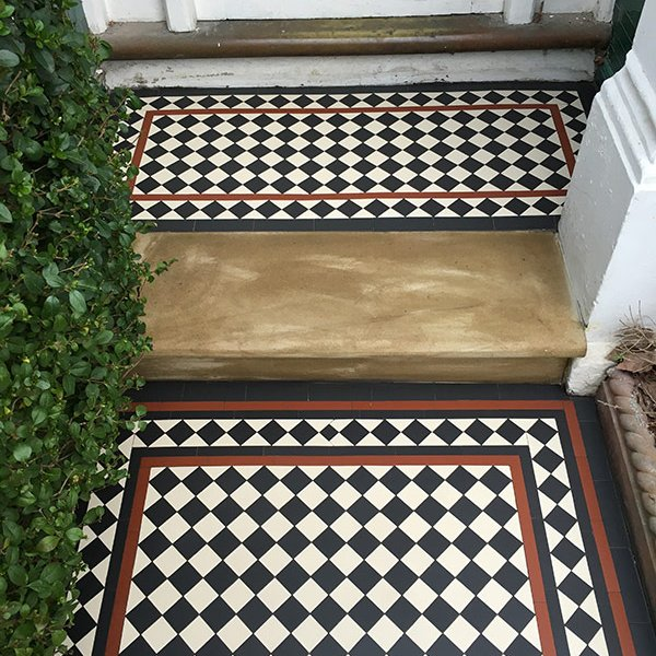 Porch mosaic tiles