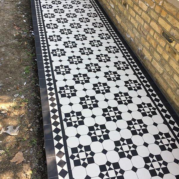 Victorian garden Path tiles
