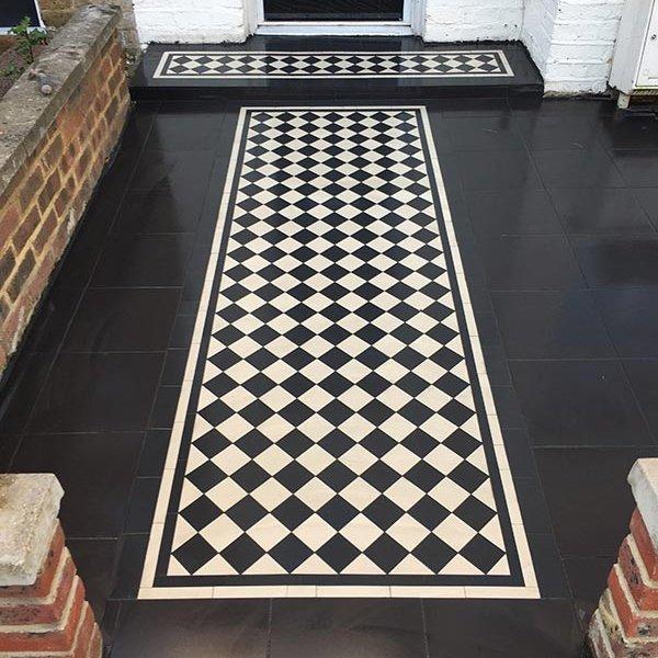 Black White Victorian Pathway