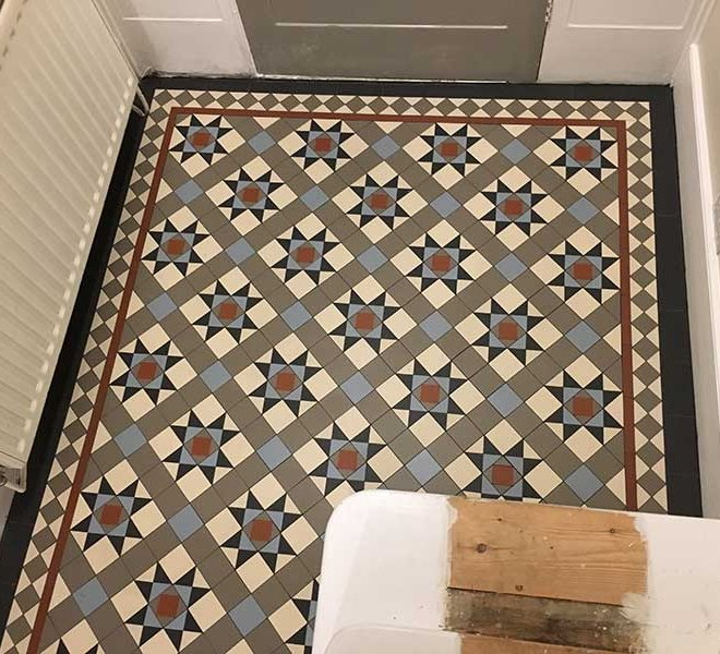 Victorian mosaic Tiles Tulse Hill