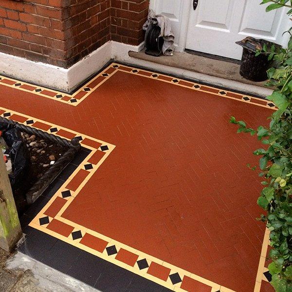 mosaic tiles path