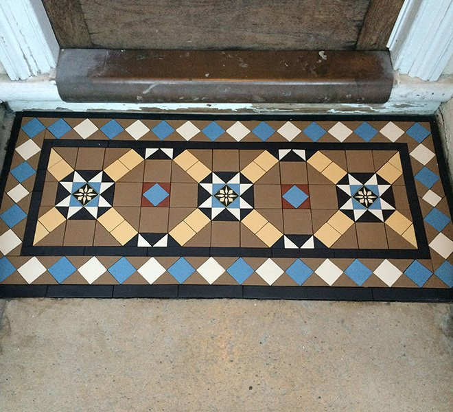 Multicoloured Victorian Mosaic Porch