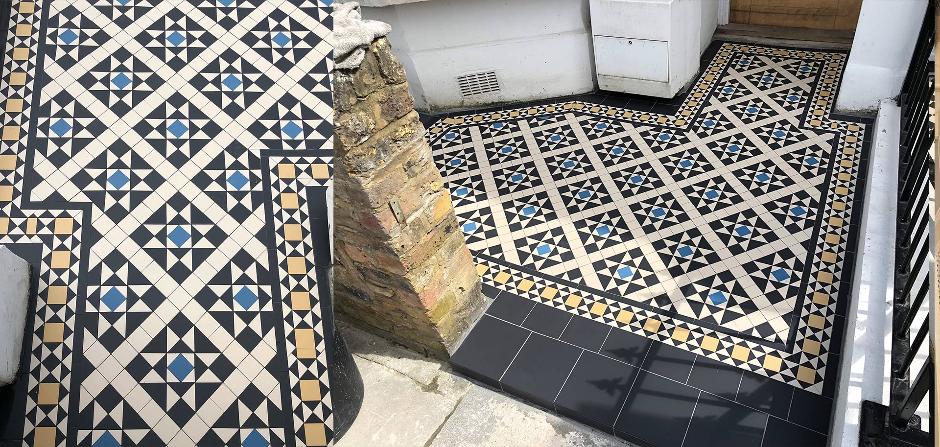victorian path tiles
