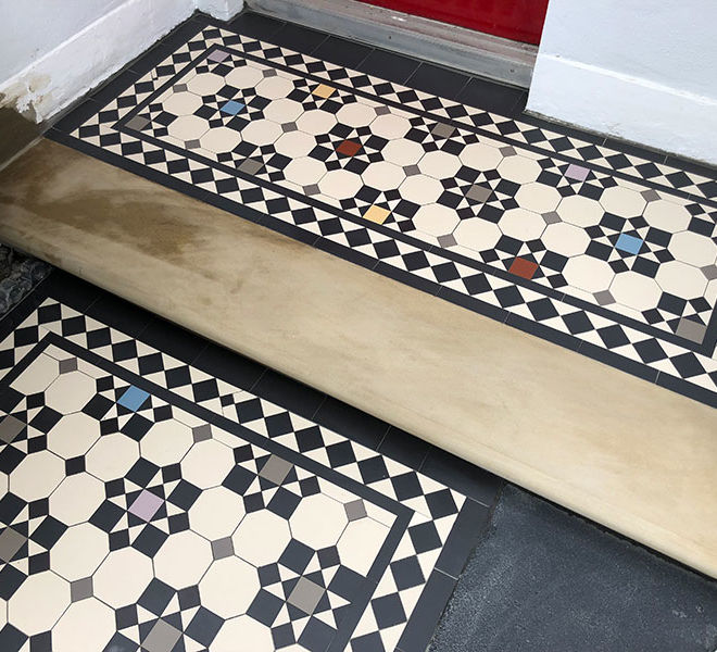 Victorian Mosaic Pathway Tiles