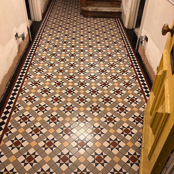Victorian Hallway Mosaic Tiles